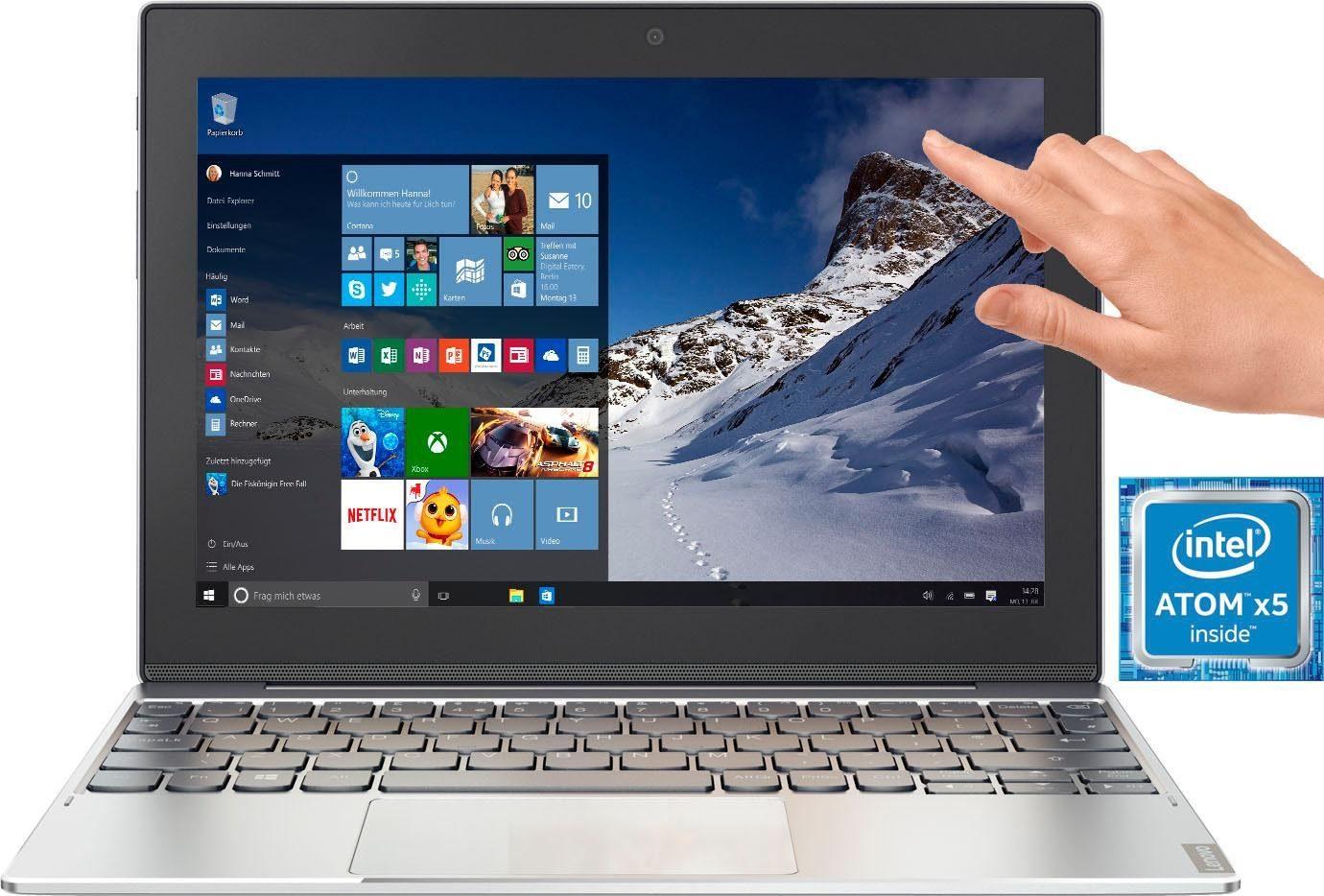 Lenovo Miix 320-10ICR, 80XF00LDGE Convertible Notebook (25,7 cm/10,1 Zoll, Intel Atom, inkl. Office 365 Personal (ESD)