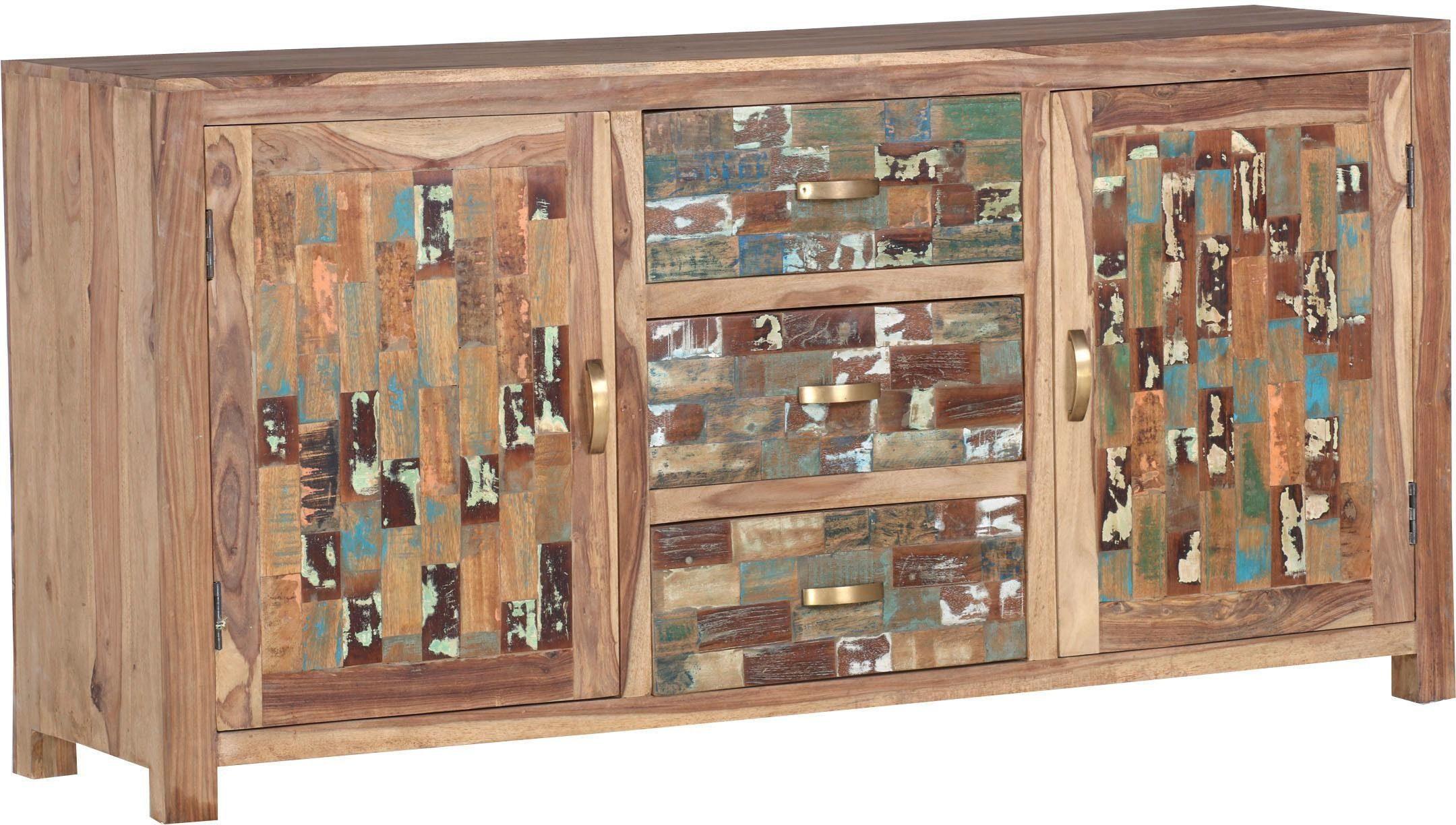 Gutmann Factory Sideboard »Patchwork« aus massivem Sheesham Holz, Breite 175 cm