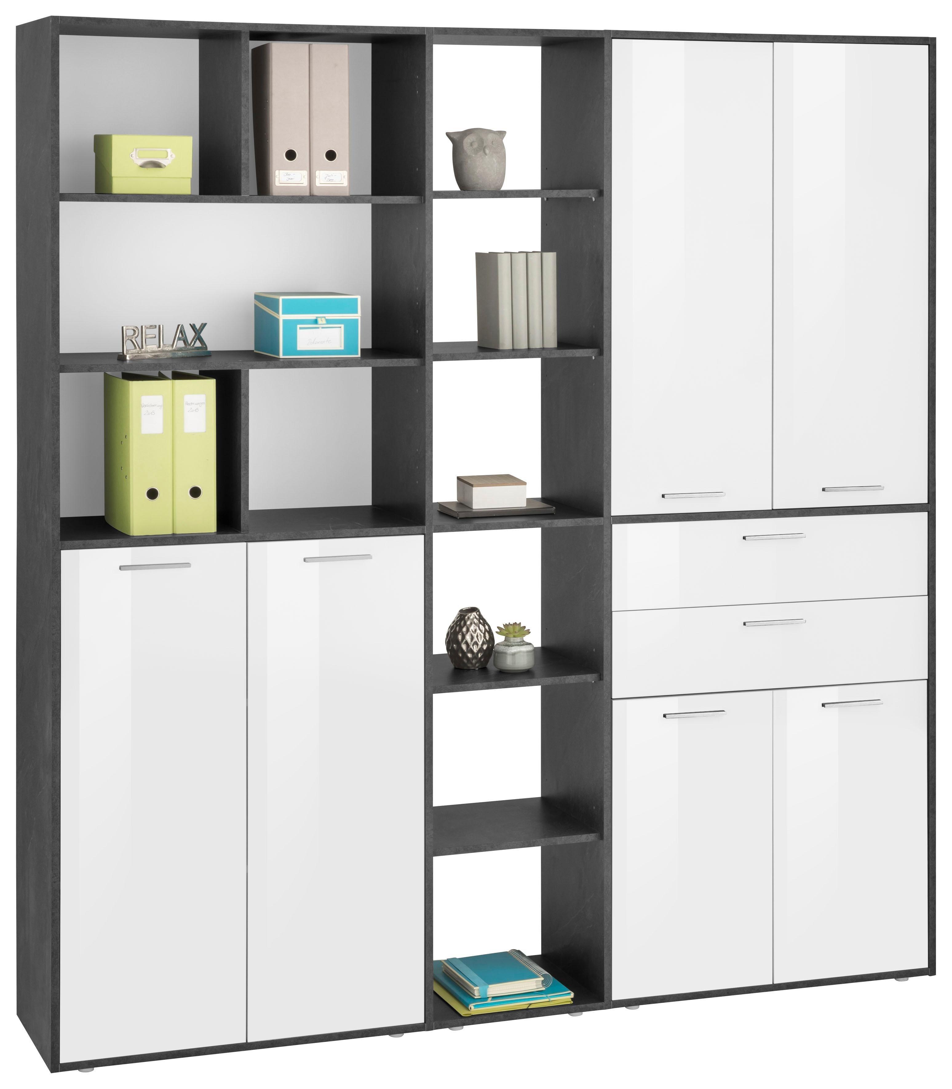 Aktenschrank »Esse« mit 6 Türen | Büro > Büroschränke > Aktenschränke | Weiß - Hochglanz | Hochglanz - Glänzend - Holz - Melamin | Tecnos
