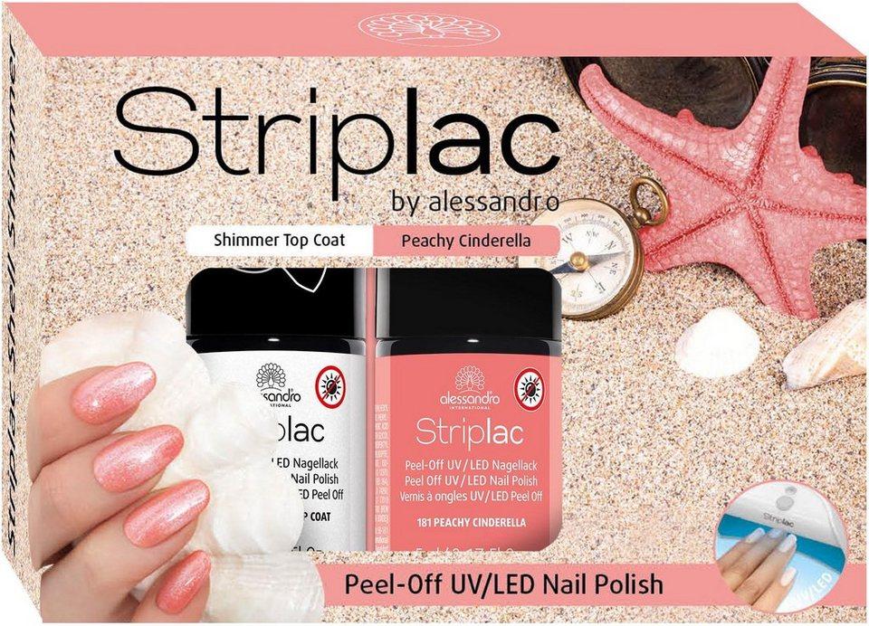 e5e0a0b9b46a39 alessandro international Nagellack-Set »Striplac Shimmer Shell«, 2-tlg.