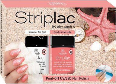 alessandro international Nagellack-Set »Striplac Shimmer Shell«, 2-tlg.