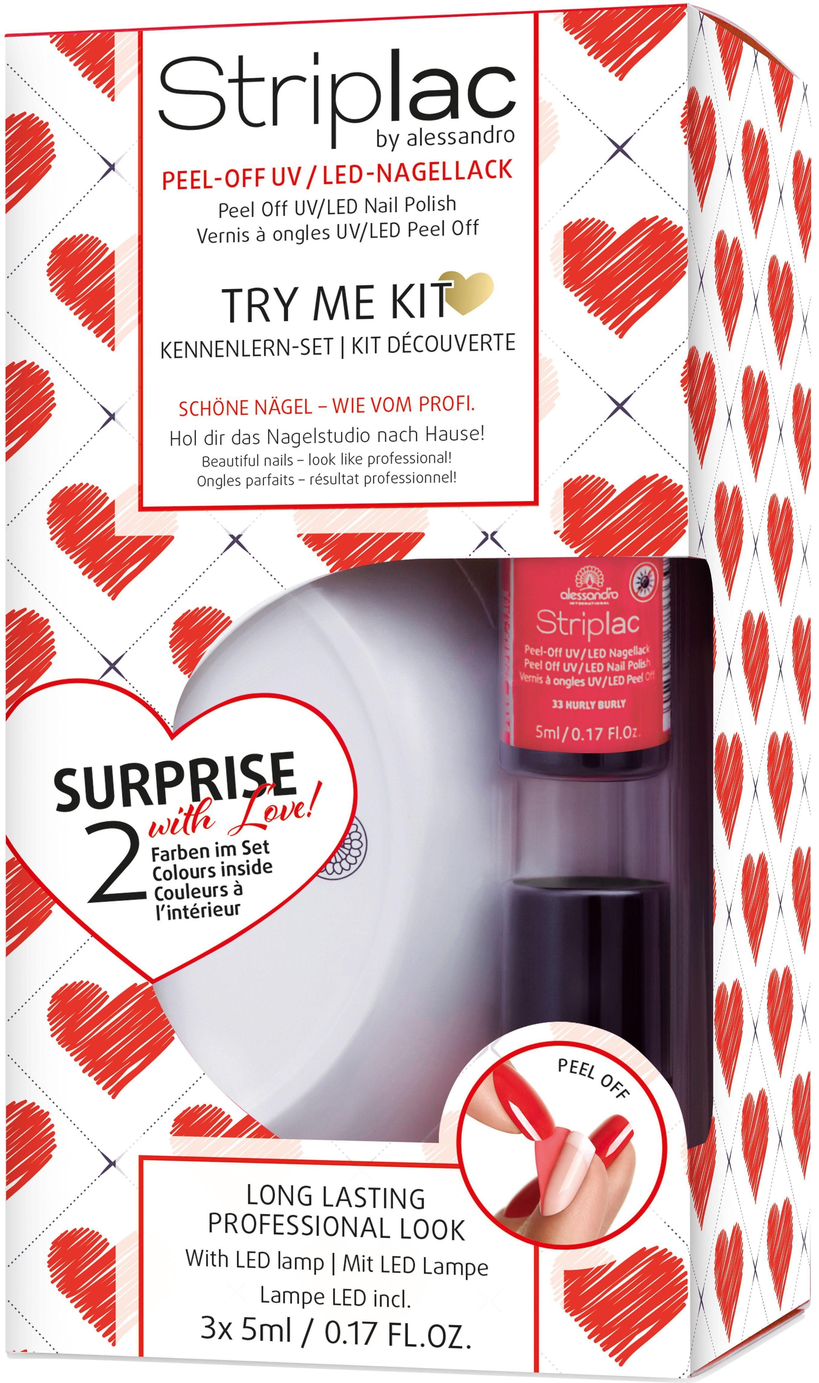 alessandro international, »Striplac Try Me Kit Love«, Nagellack-Set (9-tlg.)