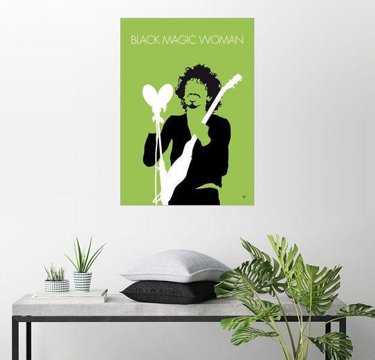 Posterlounge Wandbild - chungkong »No046 MY SANTANA Minimal Music poster«