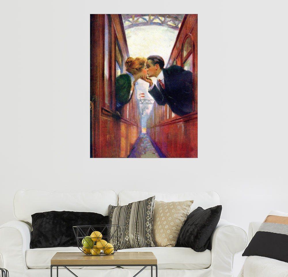 Posterlounge Wandbild »Der süße Abschied« | Dekoration | Holz | Posterlounge