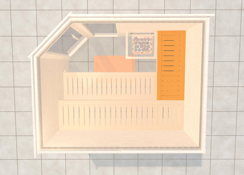 WEKA Saunabank »Querliege 3«, BxL: 52x125 cm