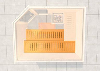 WEKA Saunabank »2«, BxL: 57x230 cm