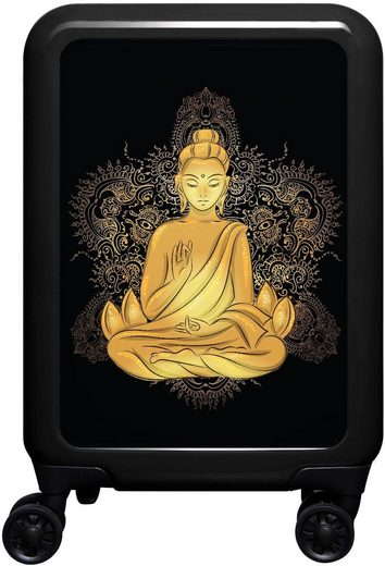 meinTrolley Hartschalen-Trolley »Buddha, 55 cm«, 4 Rollen, Made in Germany