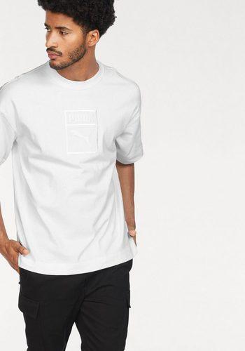 Herren PUMA T-Shirt DOWNTOWN TEE weiß | 04059506646331