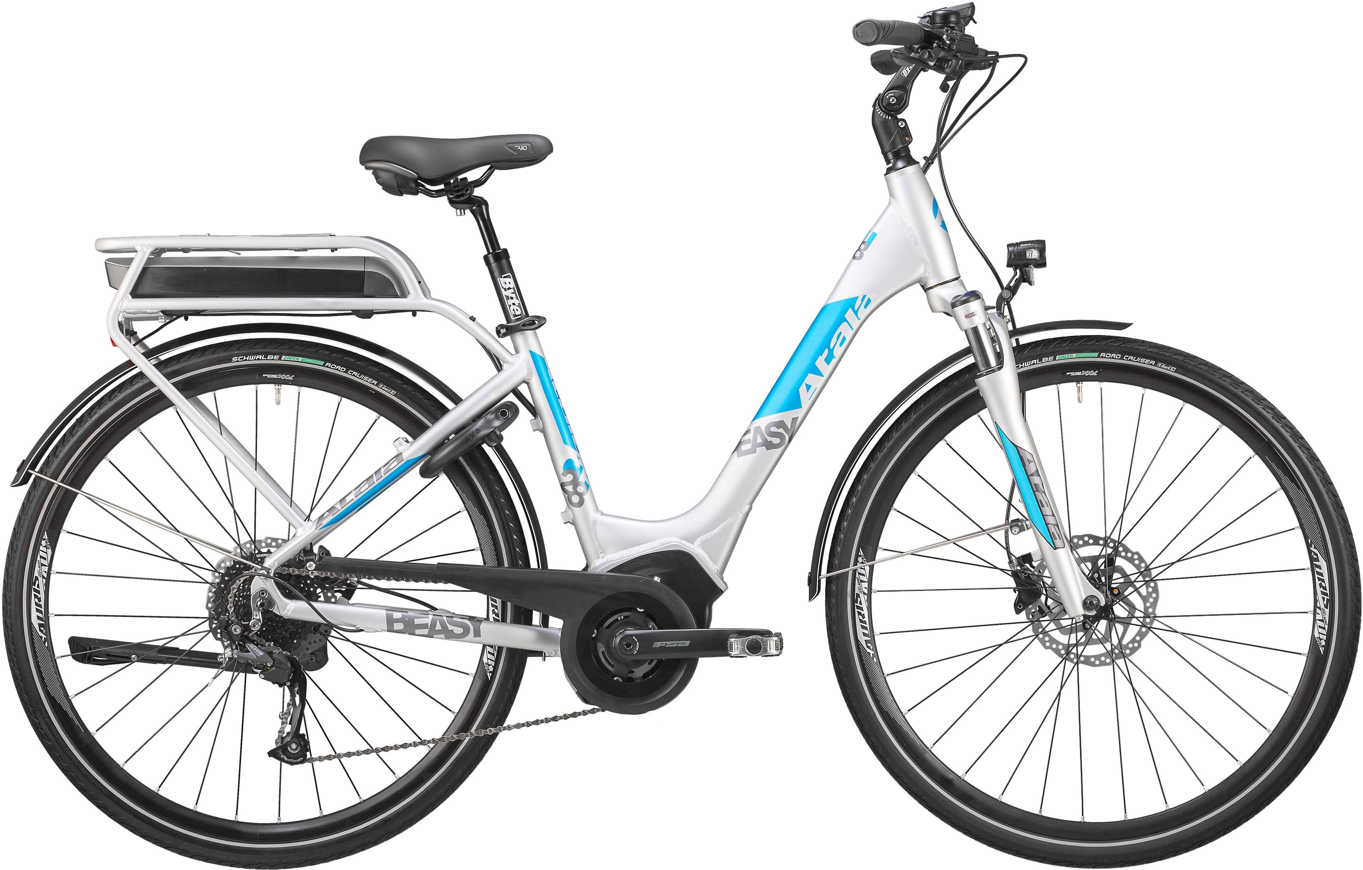 Atala E-Bike »B-Easy SL«, 9 Gang Shimano RD-M 2000 Schaltwerk, Kettenschaltung, Mittelmotor 250 W