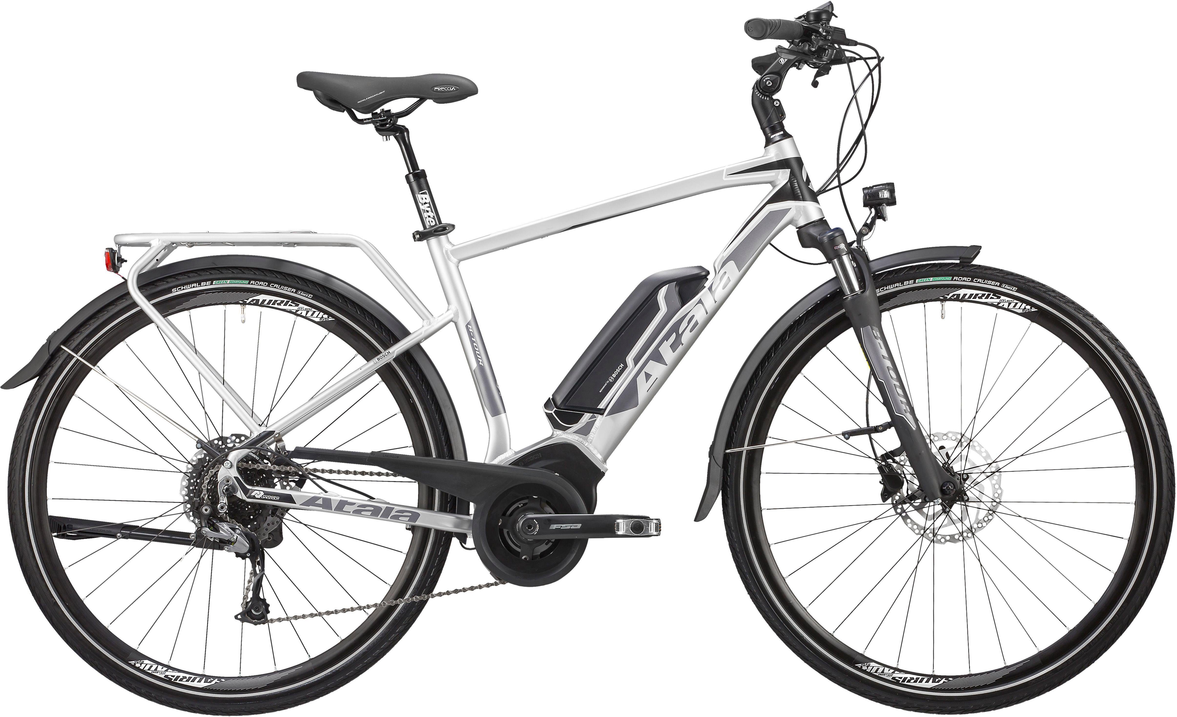Atala E-Bike »B-Tour SL«, 9 Gang Shimano RD-M 4000 Schaltwerk, Kettenschaltung, Mittelmotor 250 W