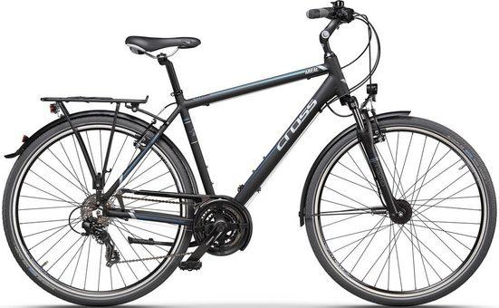 CROSS Trekkingrad, 21 Gang Shimano TX8000 Schaltwerk, Kettenschaltung