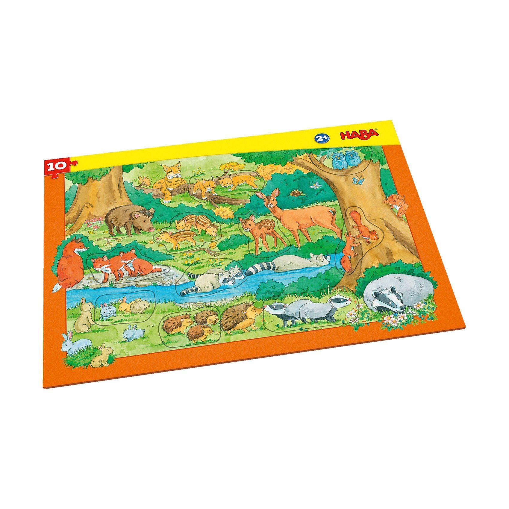 Haba Rahmenpuzzle 10 Teile - Waldtiere