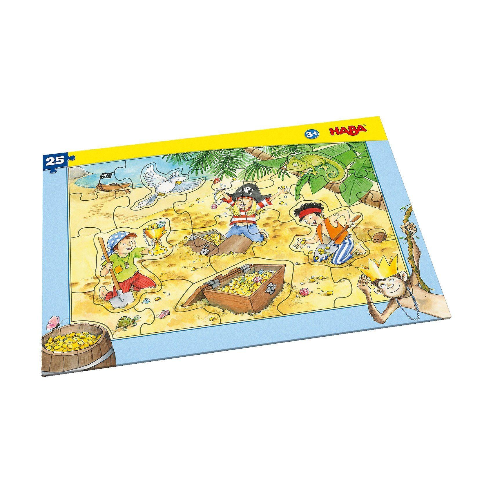 Haba Rahmenpuzzle 25 Teile - Piratengold