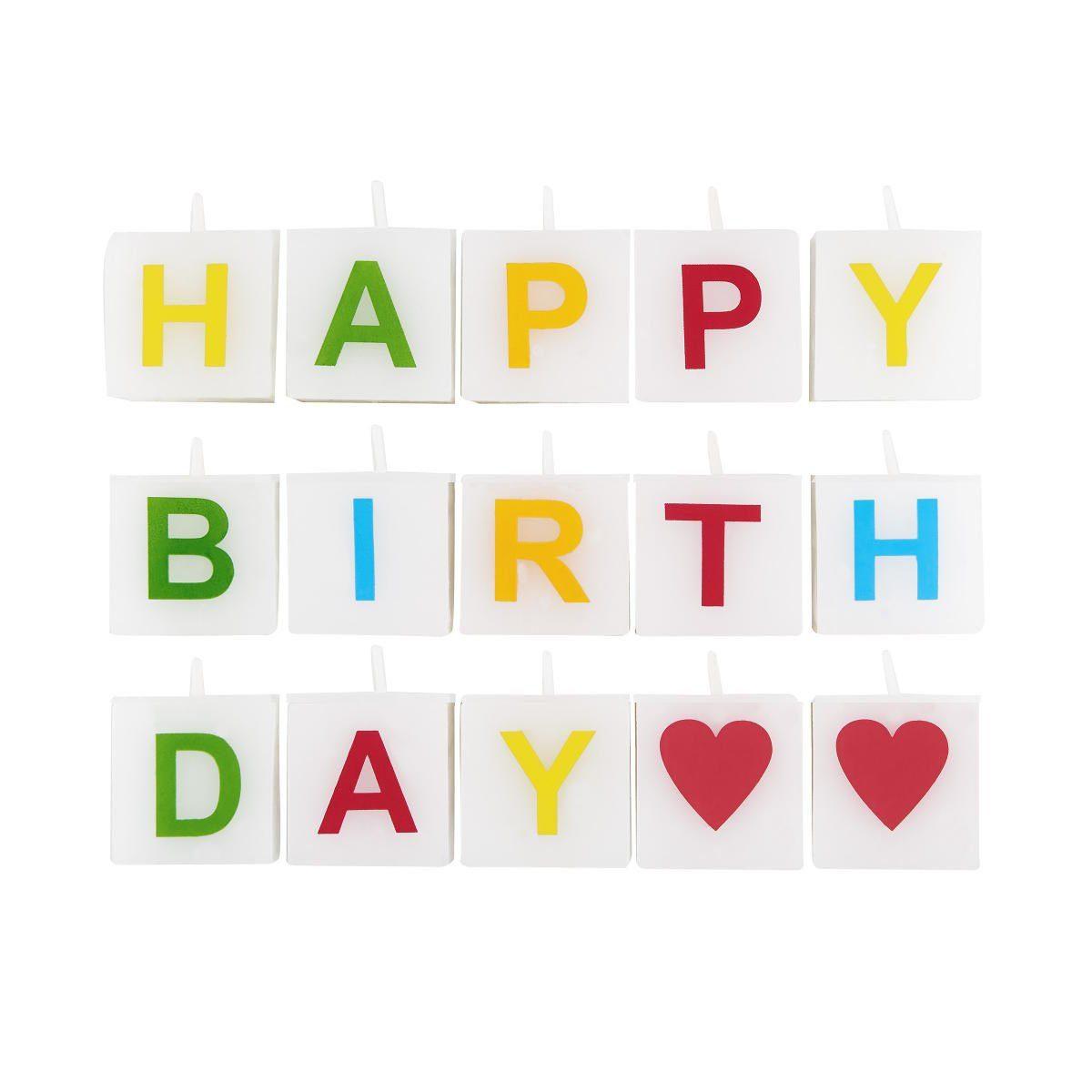 BUTLERS LOVE LETTERS »Kerze Happy Birthday 15 tlg.«