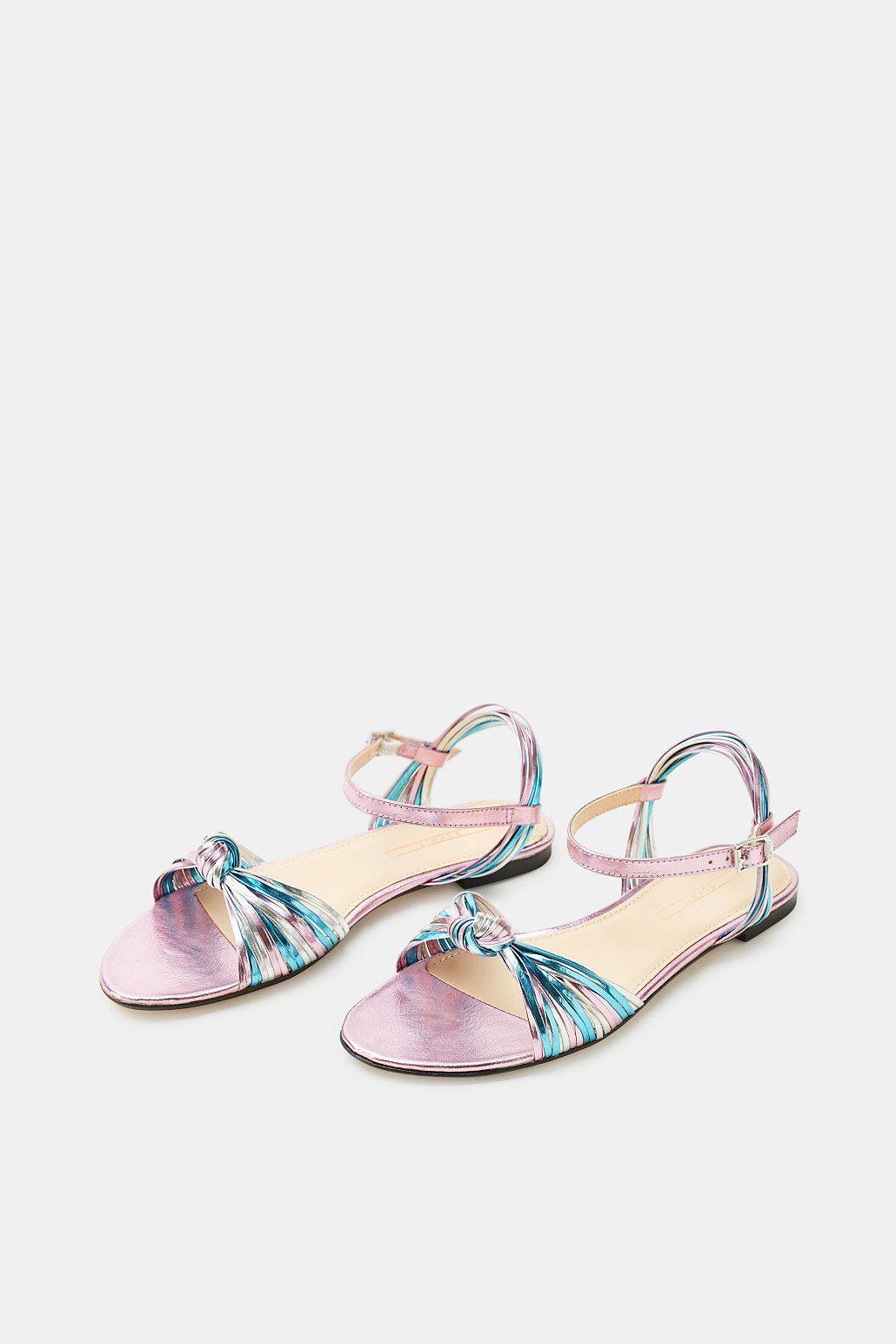 ESPRIT Flache Metallic-Sandale mit schmalen Riemchen online kaufen  ICE