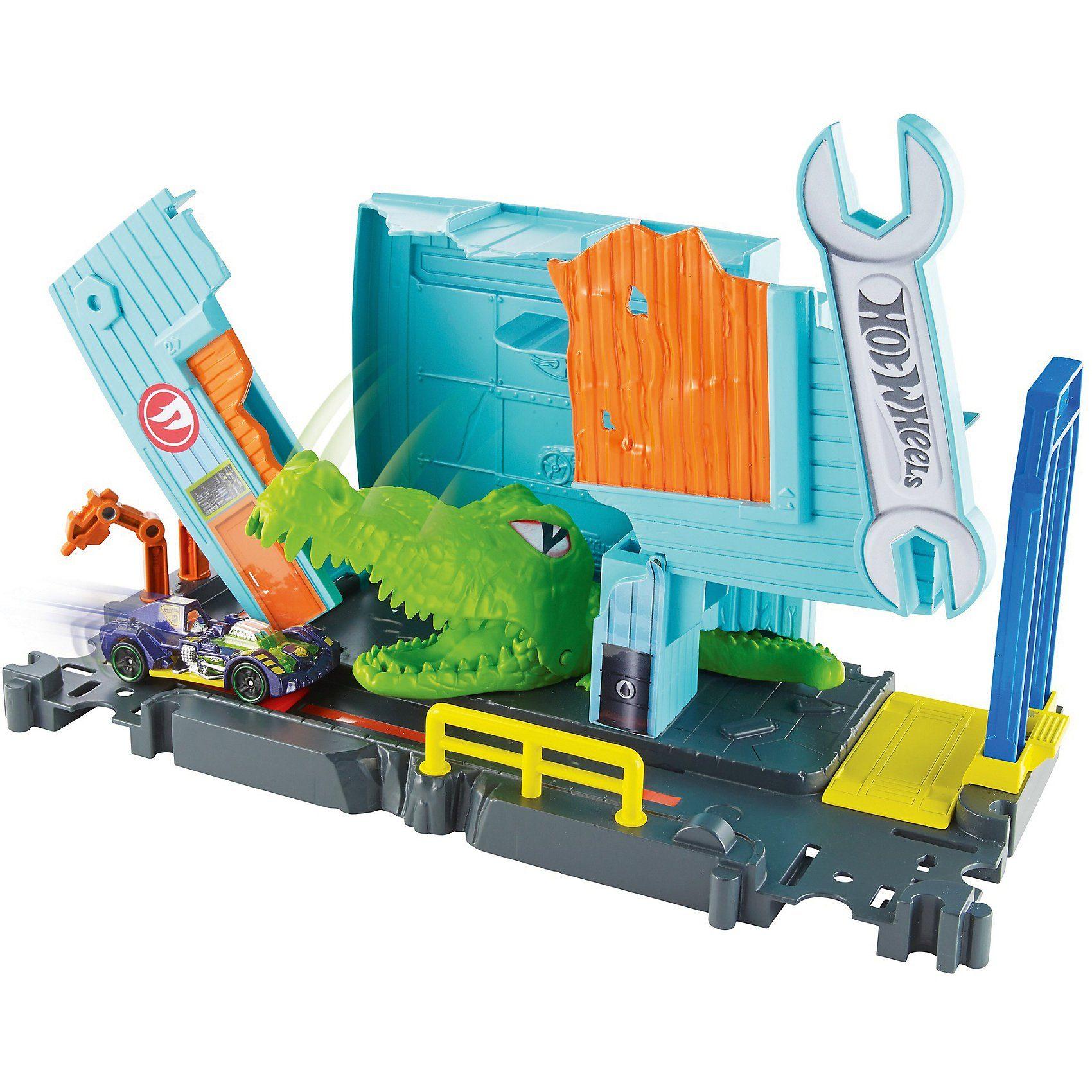 Mattel City Triceratops-Angriff Spielset Neu Spielzeugautos