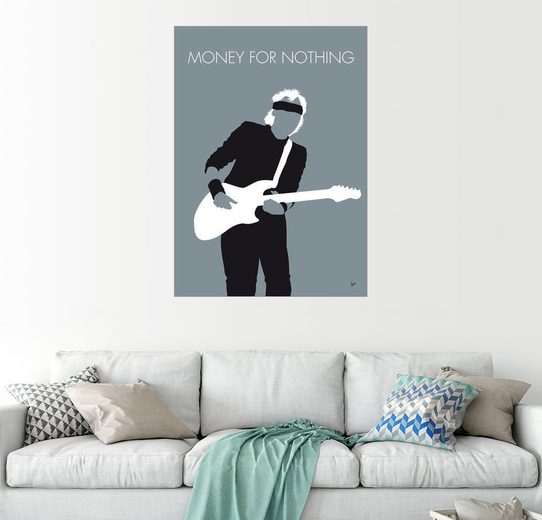 Posterlounge Wandbild - chungkong »No107 MY Mark Knopfler Minimal Music poster«