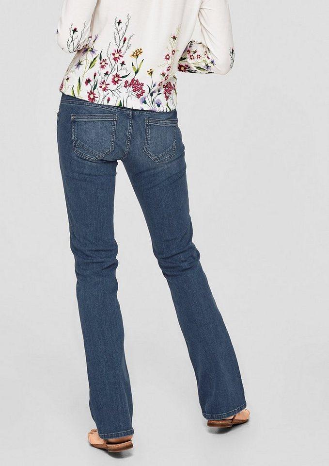 s oliver red label smart bootcut jeans mit zwei kn pfen. Black Bedroom Furniture Sets. Home Design Ideas