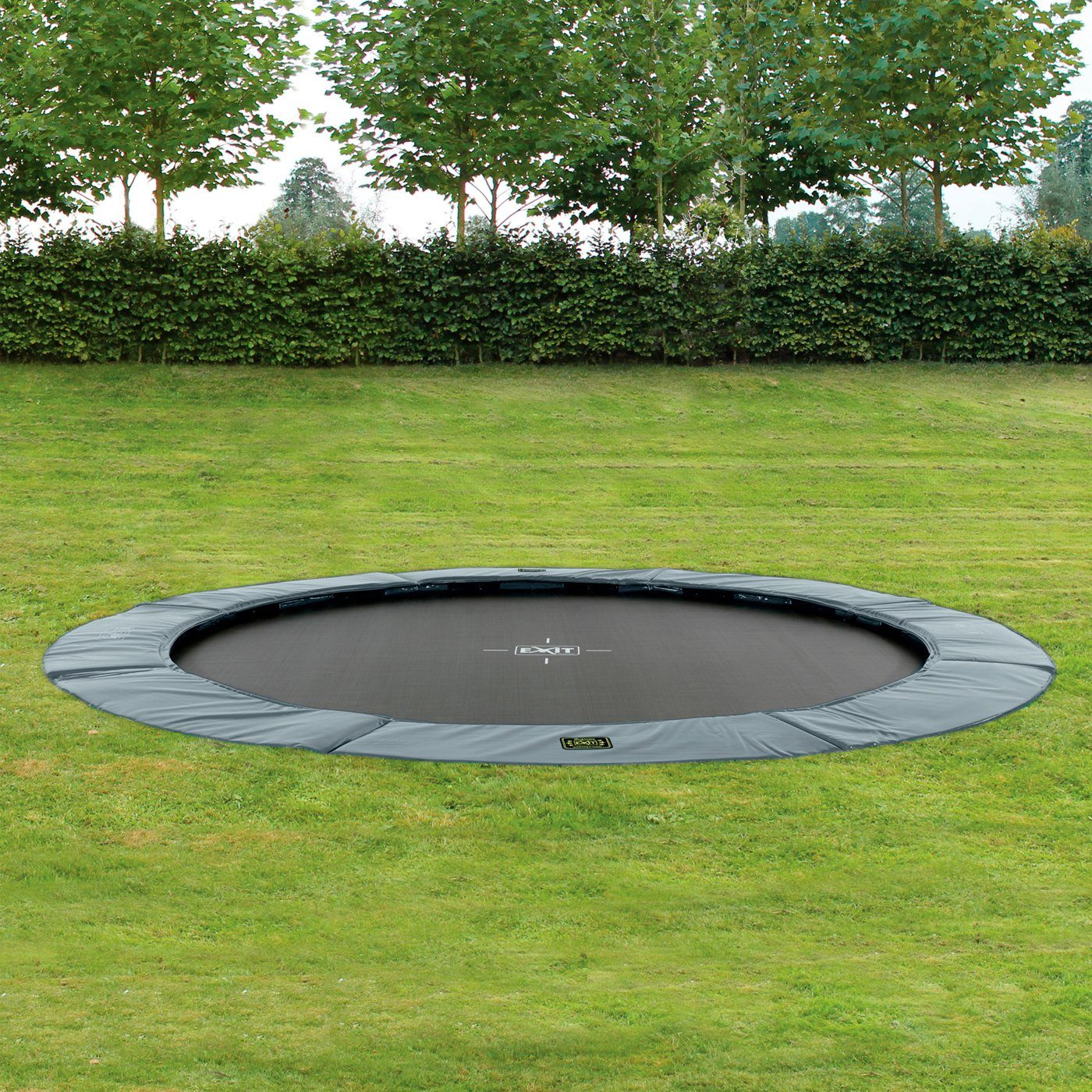 EXIT Trampolin »Supreme Ground«, Ø 427 cm, grau