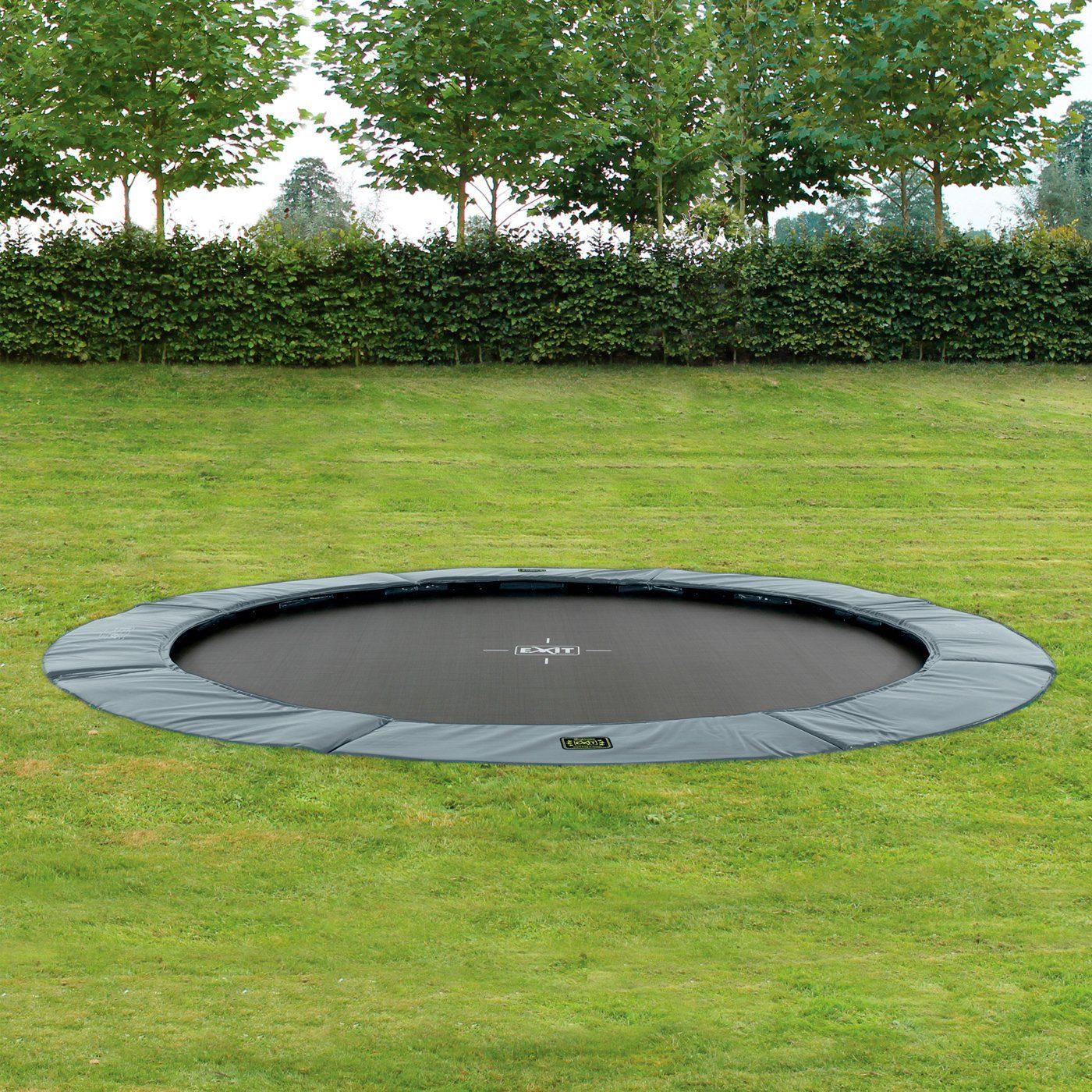 EXIT Trampolin »Supreme Ground«, Ø 427 cm, grau