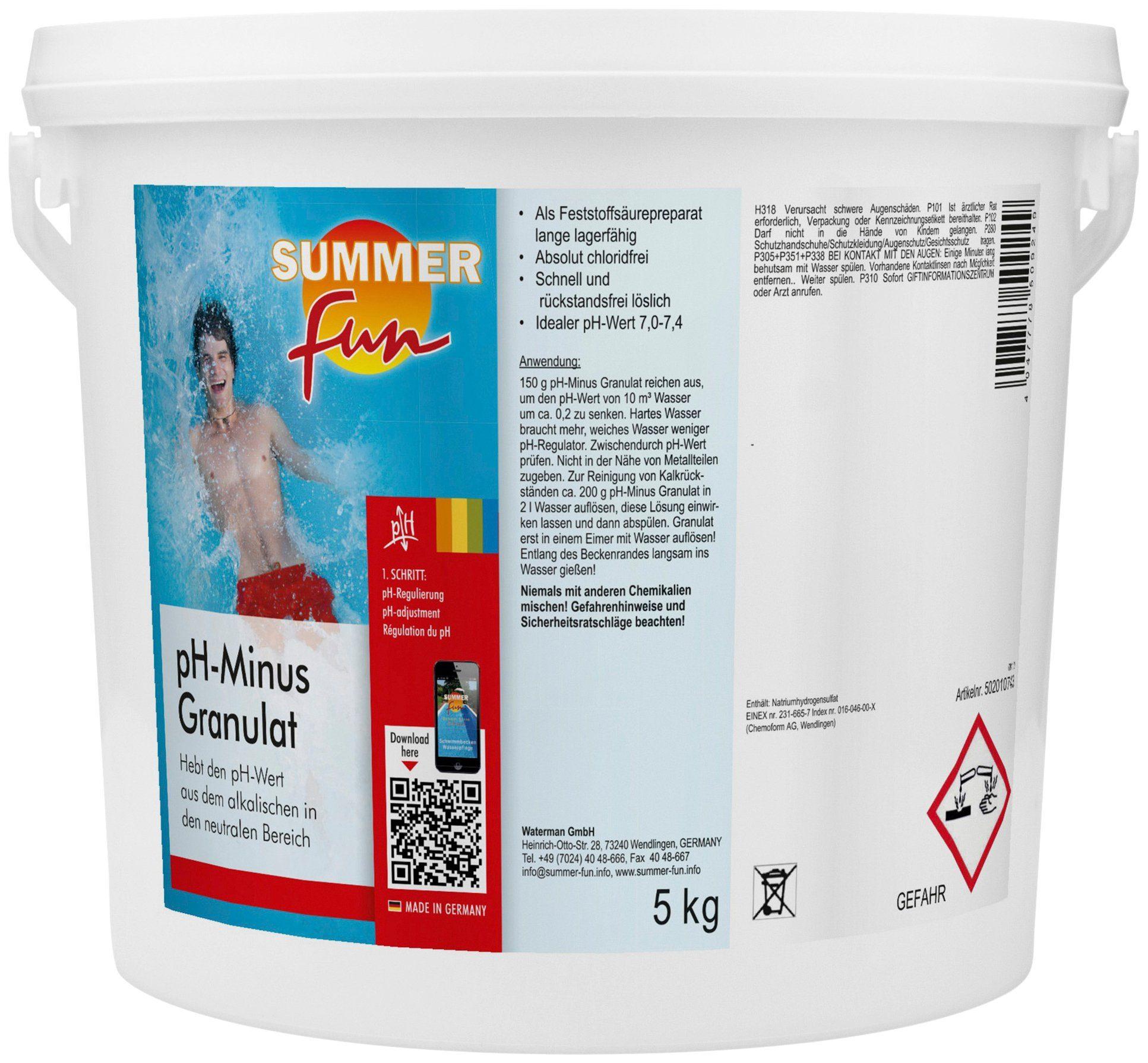 SUMMER FUN Wasserpflege »pH-Minus Granulat«, 5 kg