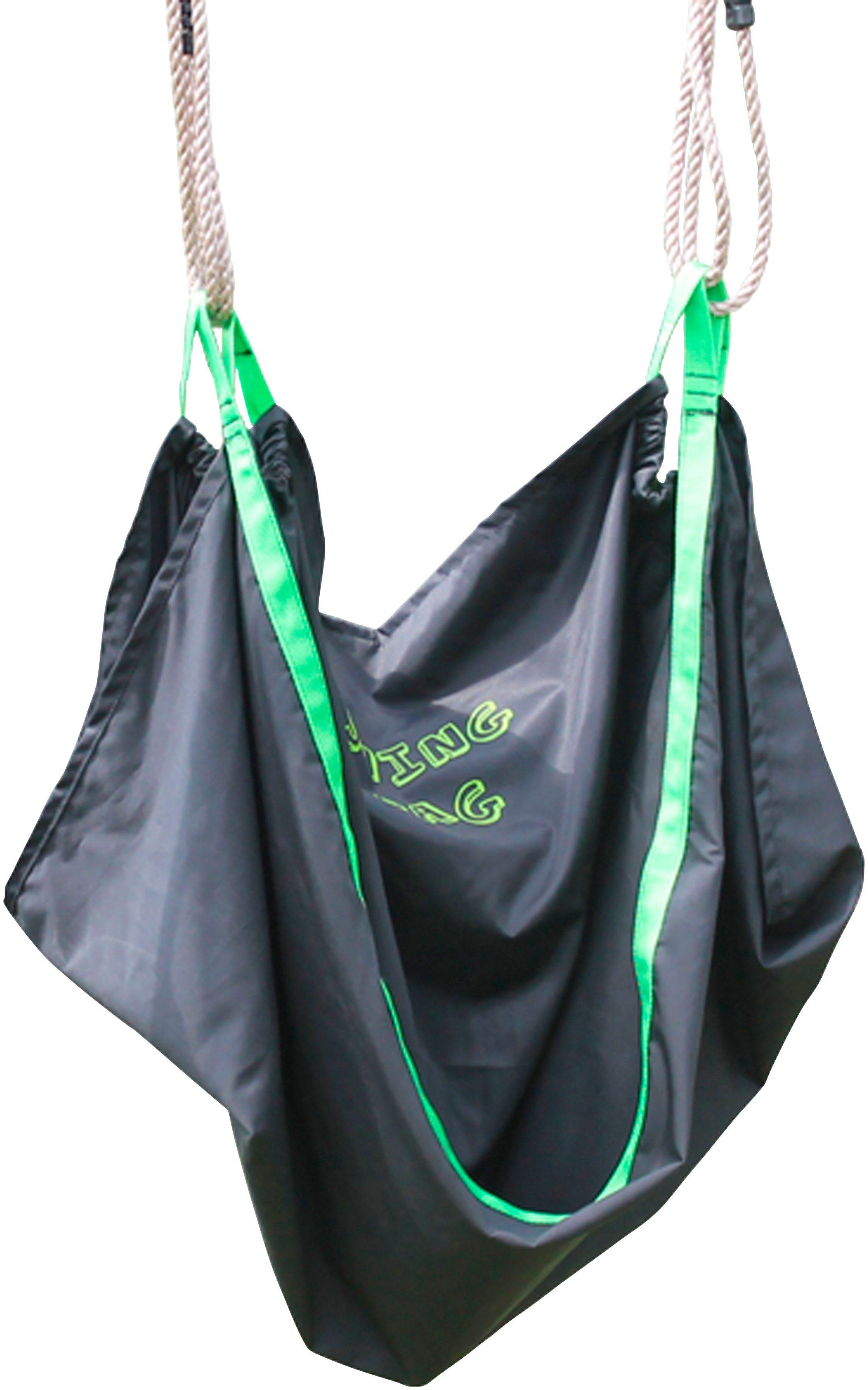 EXIT Schaukelsitz »Swingbag«, Textil, 110 cm, schwarz/grün