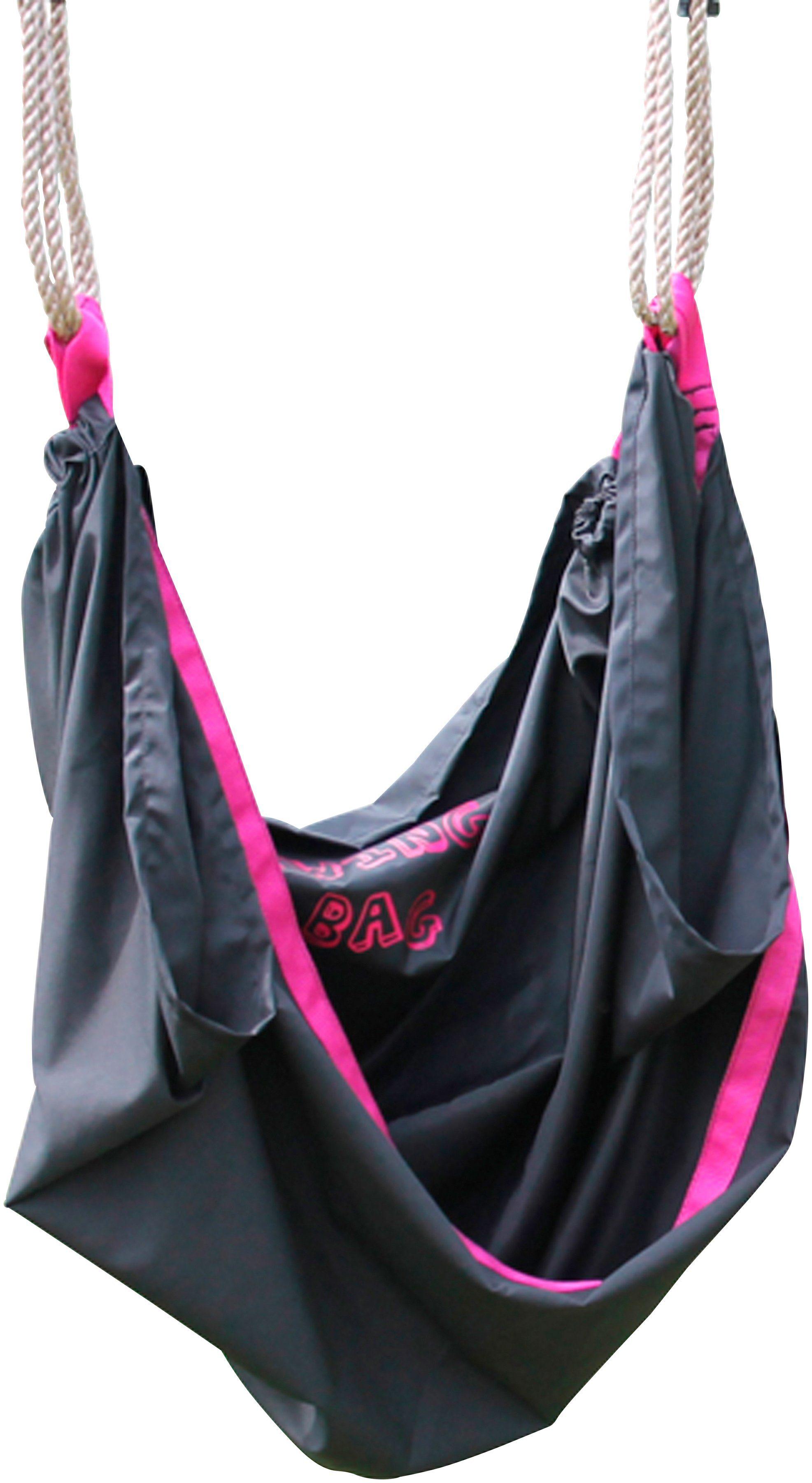 EXIT Schaukelsitz »Swingbag«, Textil, 110 cm, schwarz/rosa