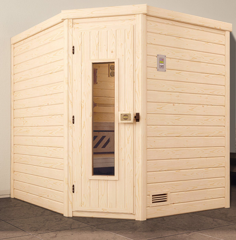 WEKA Sauna »Turku Eck Gr.1«, 195x195x204 cm, ohne Ofen, Holztür