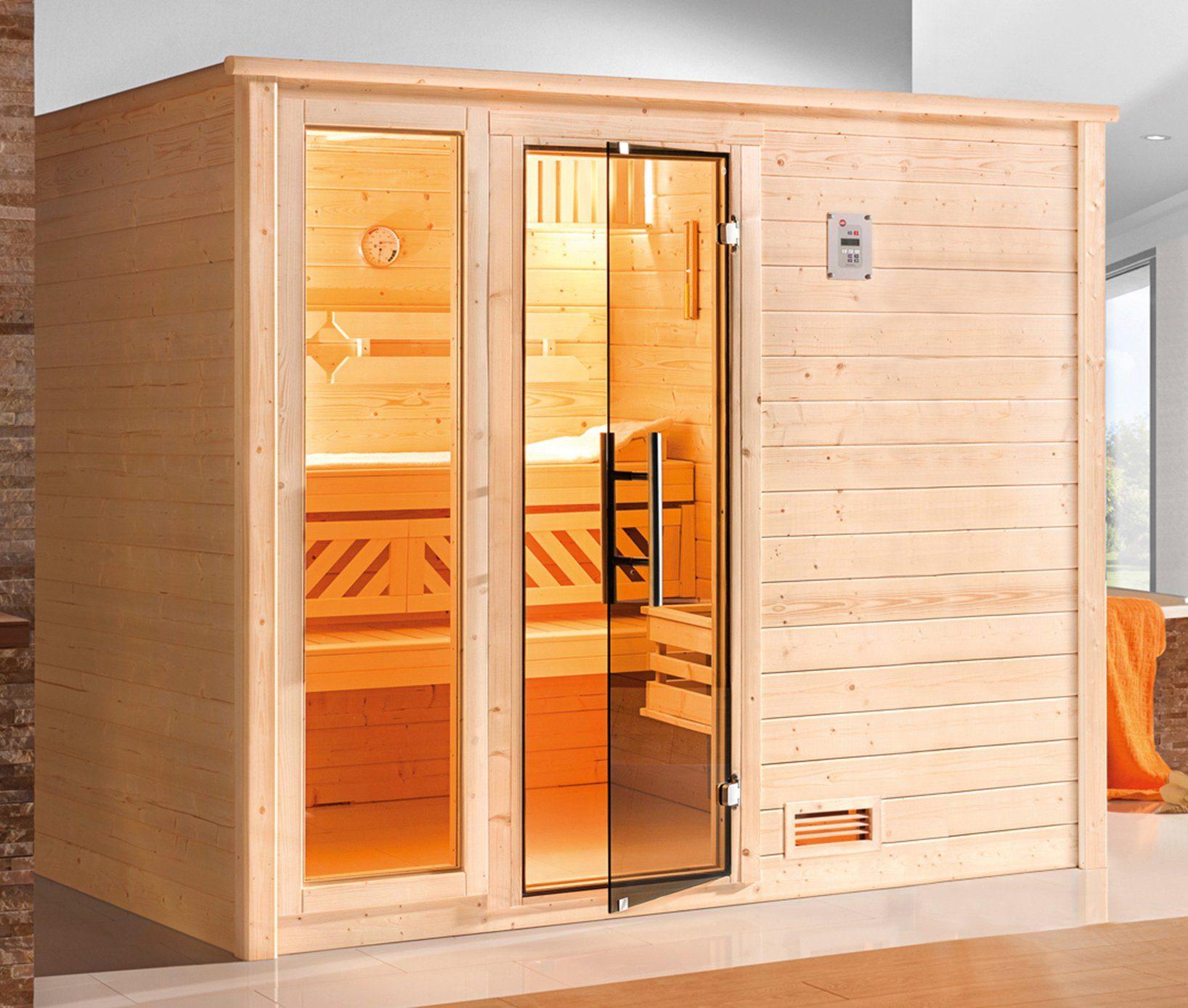 WEKA Sauna »Bergen Gr.4«, 248x198x204 cm, ohne Ofen, mit Fenster