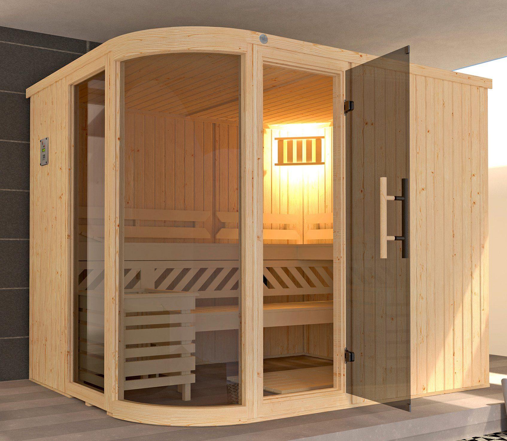 WEKA Sauna »Sara Gr.2«, 244x194x199 cm, 9-kW-Ofen mit int. Steuerung