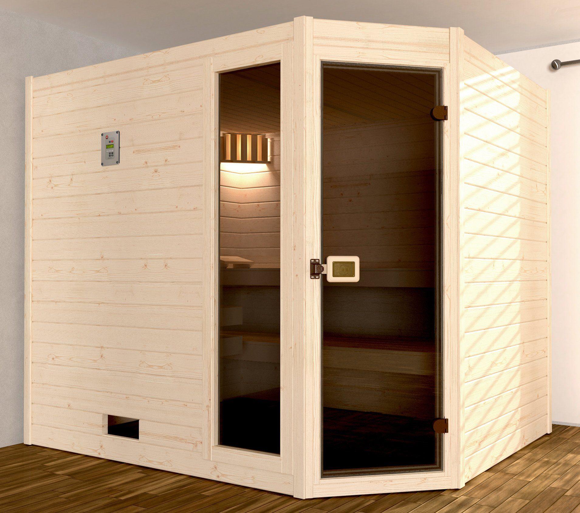 WEKA Sauna »Valida Eck Gr.3«, 239x189x204 cm, ohne Ofen, mit Fenster