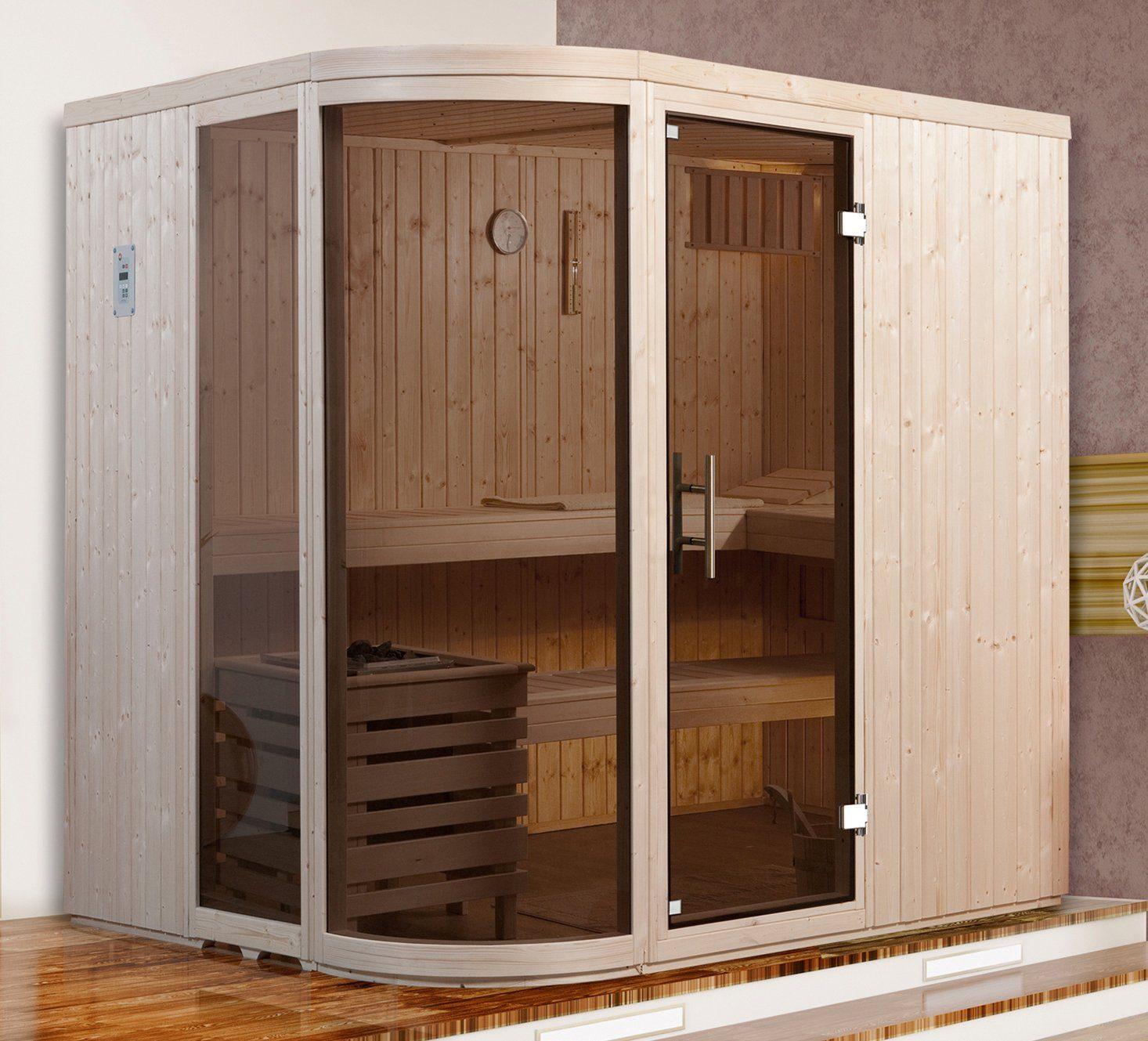 WEKA Sauna »Sara Gr.1«, 194x194x199 cm, 7,5-kW-Ofen mit ext. Steuerung