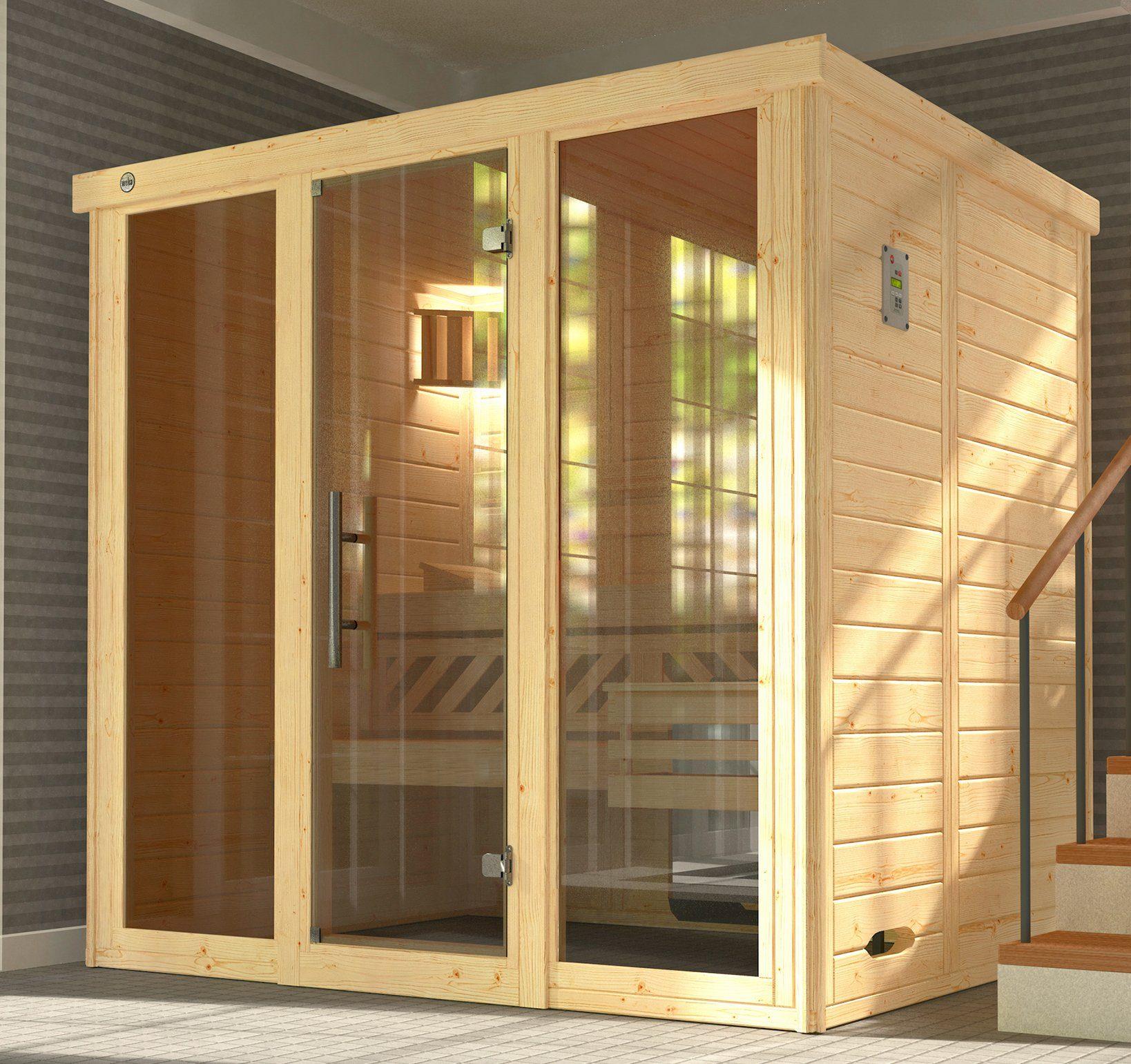 WEKA Sauna »Kemi Gr.2«, 211x169x200 cm, ohne Ofen, mit 2 Fenstern
