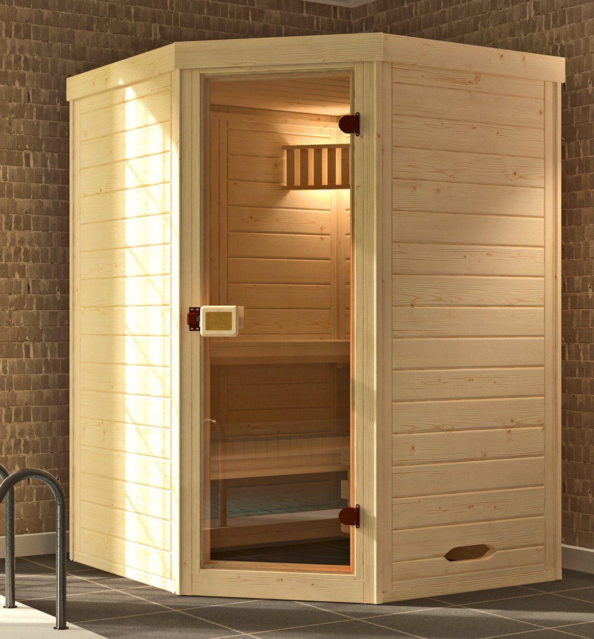 WEKA Sauna »Laukkala Gr.1«, 144x144x199 cm, ohne Ofen