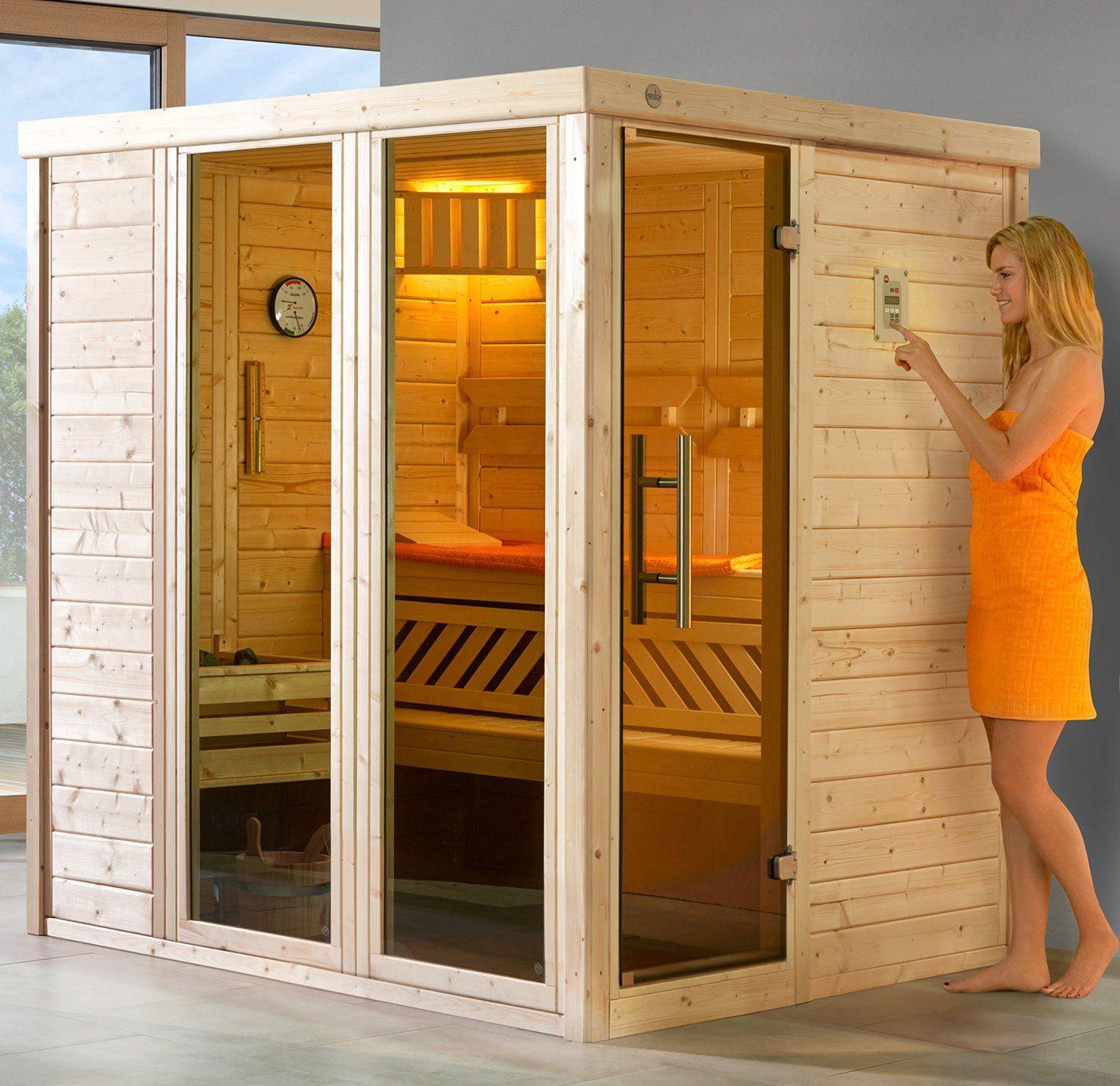 WEKA Sauna »Kemi Gr.1«, 162x193x200 cm, ohne Ofen, mit 2 Fenstern