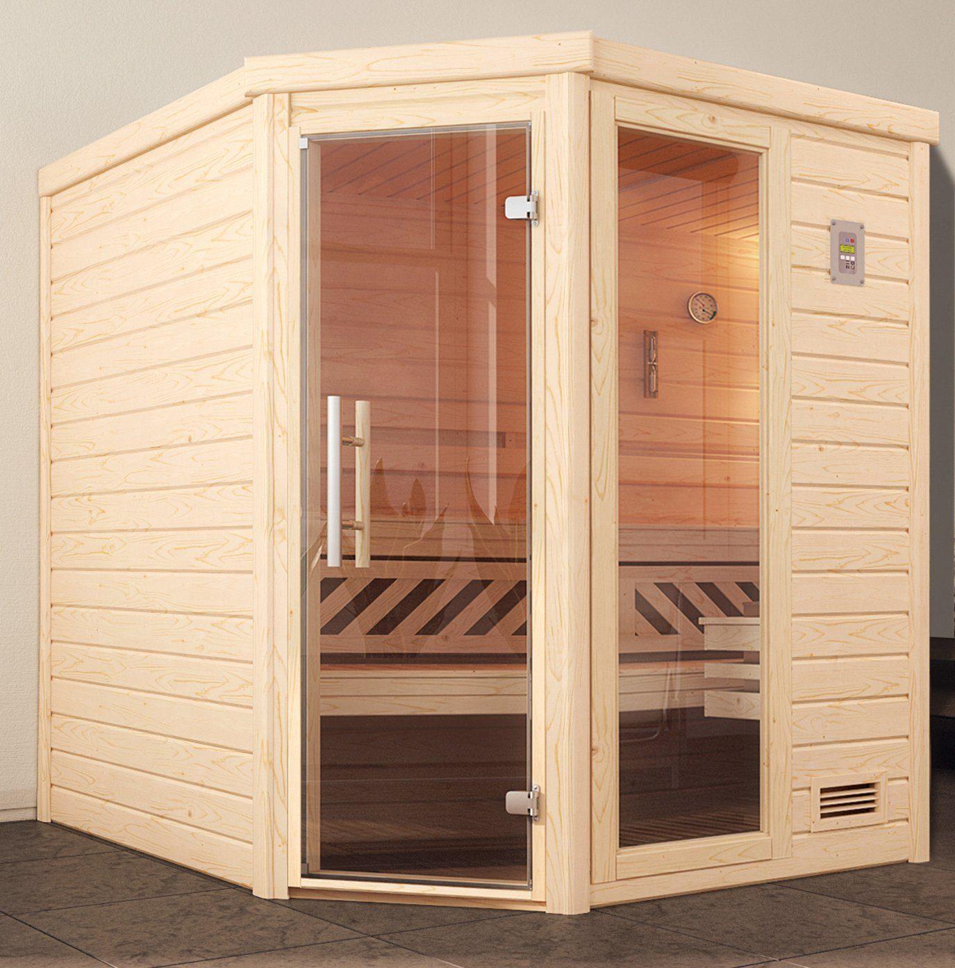 WEKA Sauna »Turku Eck Gr.1«, 195x195x204 cm, ohne Ofen, mit Fenster
