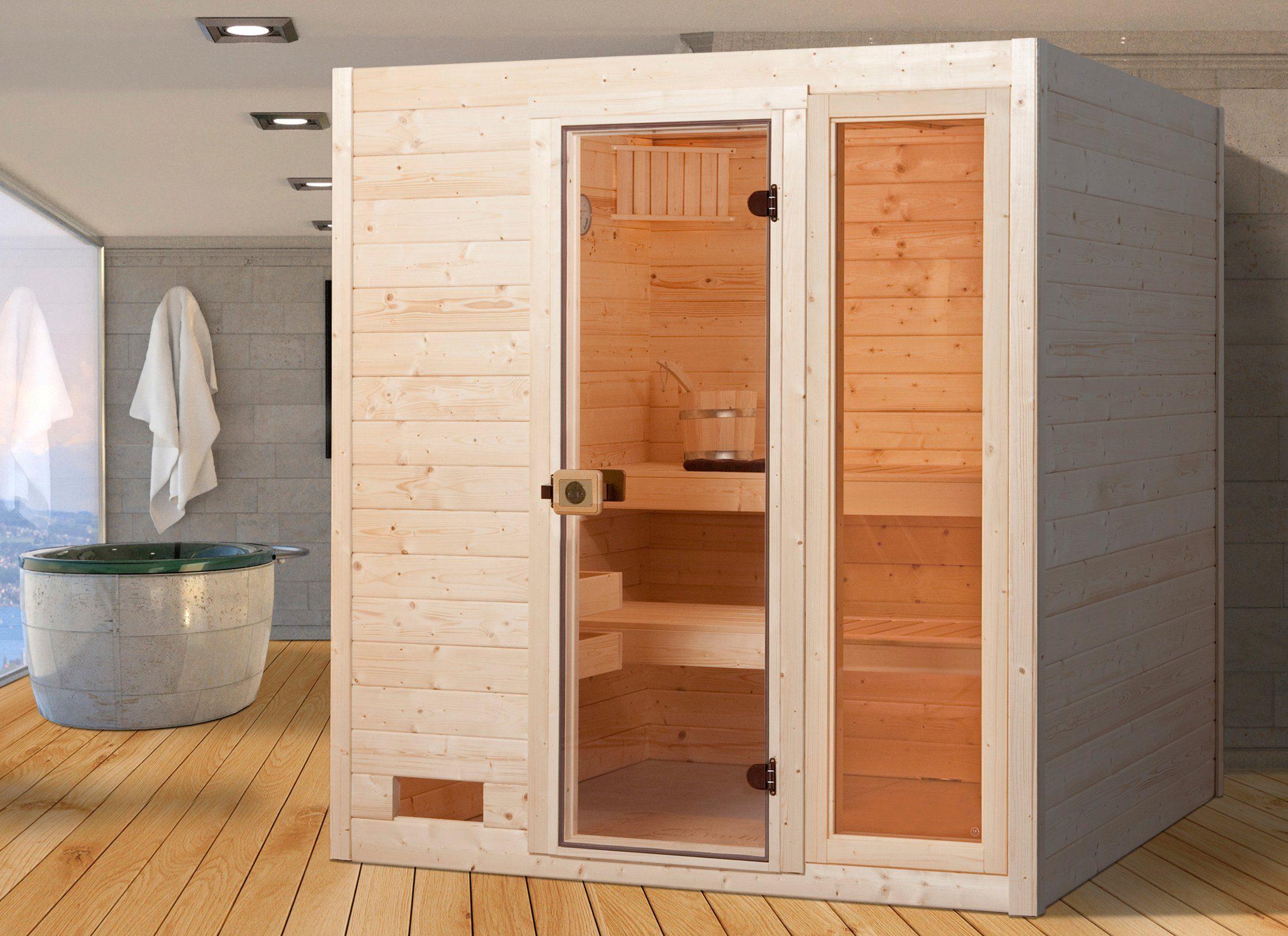WEKA Sauna »Valida Gr.3«, 189x189x204 cm, ohne Ofen, mit Fenster