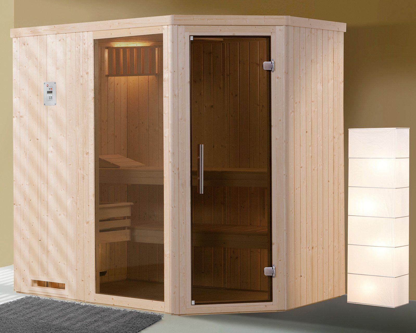 WEKA Sauna »Varberg Gr.1«, 194x144x199 cm, ohne Ofen, mit Fenster