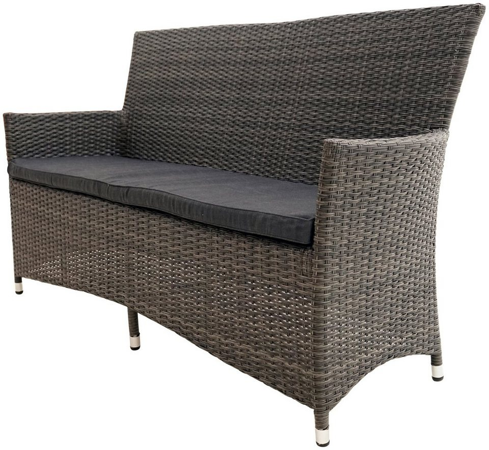 ploss gartenbank rocking basic polyrattan 165x64x90 cm. Black Bedroom Furniture Sets. Home Design Ideas