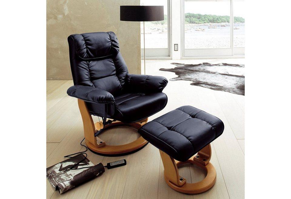 massagesessel mit hocker. Black Bedroom Furniture Sets. Home Design Ideas