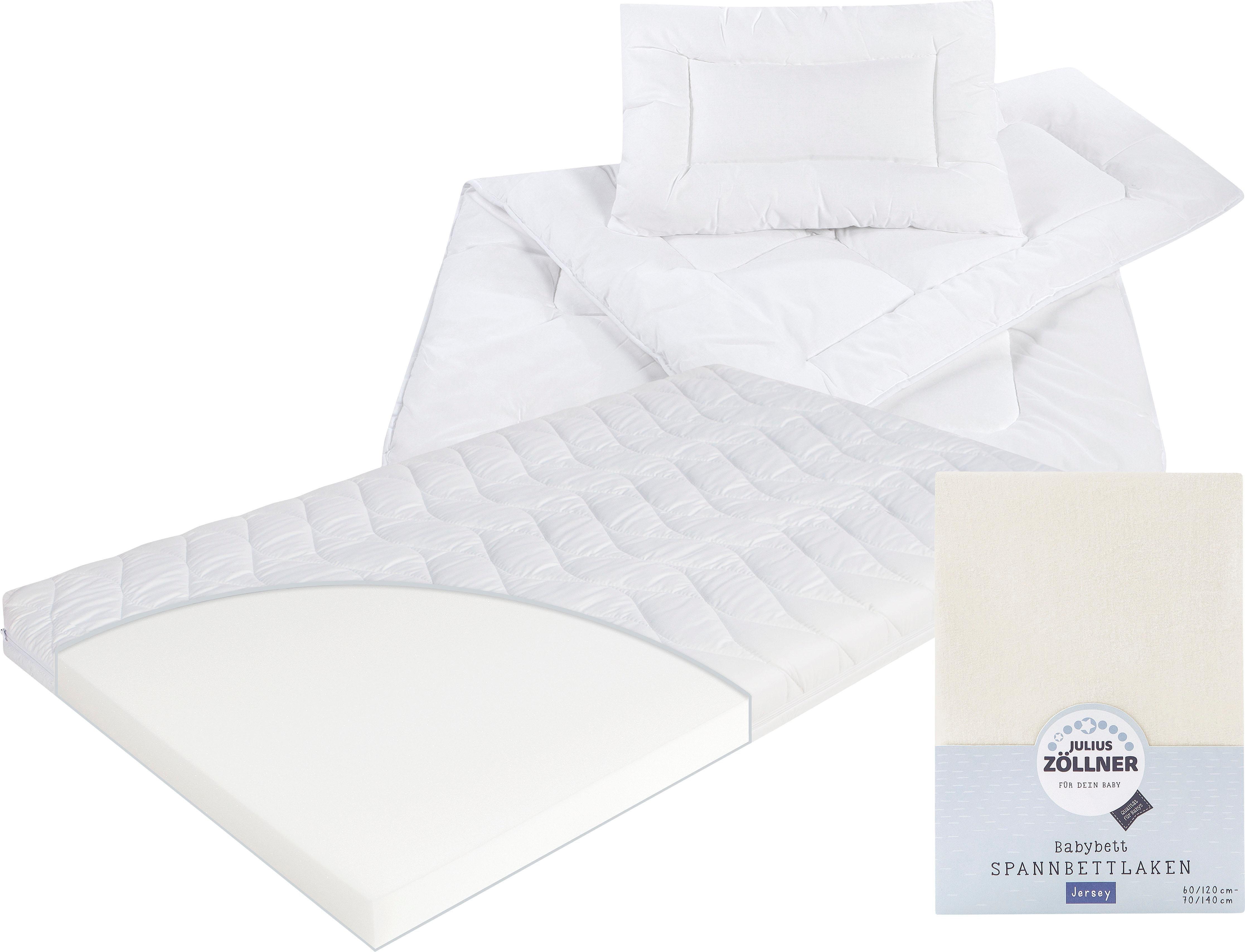 Set: Matratze für Babys & Kleinkinder, Decken-Set & Spannbetttuch, »Kombi Jan«, Zöllner (4-tlg.), 10 cm hoch | Kinderzimmer > Textilien für Kinder > Kinderbettwäsche | Zöllner