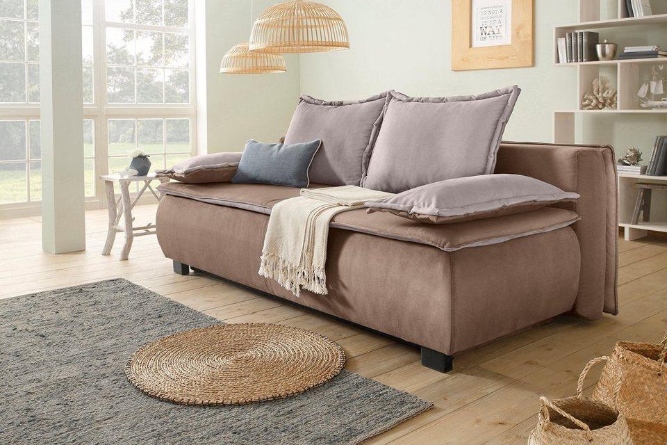 home affaire schlafsofa river mit bettkasten und breitem kederschlafsofa river sinkros und. Black Bedroom Furniture Sets. Home Design Ideas