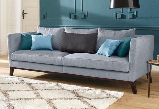 Home affaire Big-Sofa »Kim«, mit Holzbeinen und vielen losen Kissen