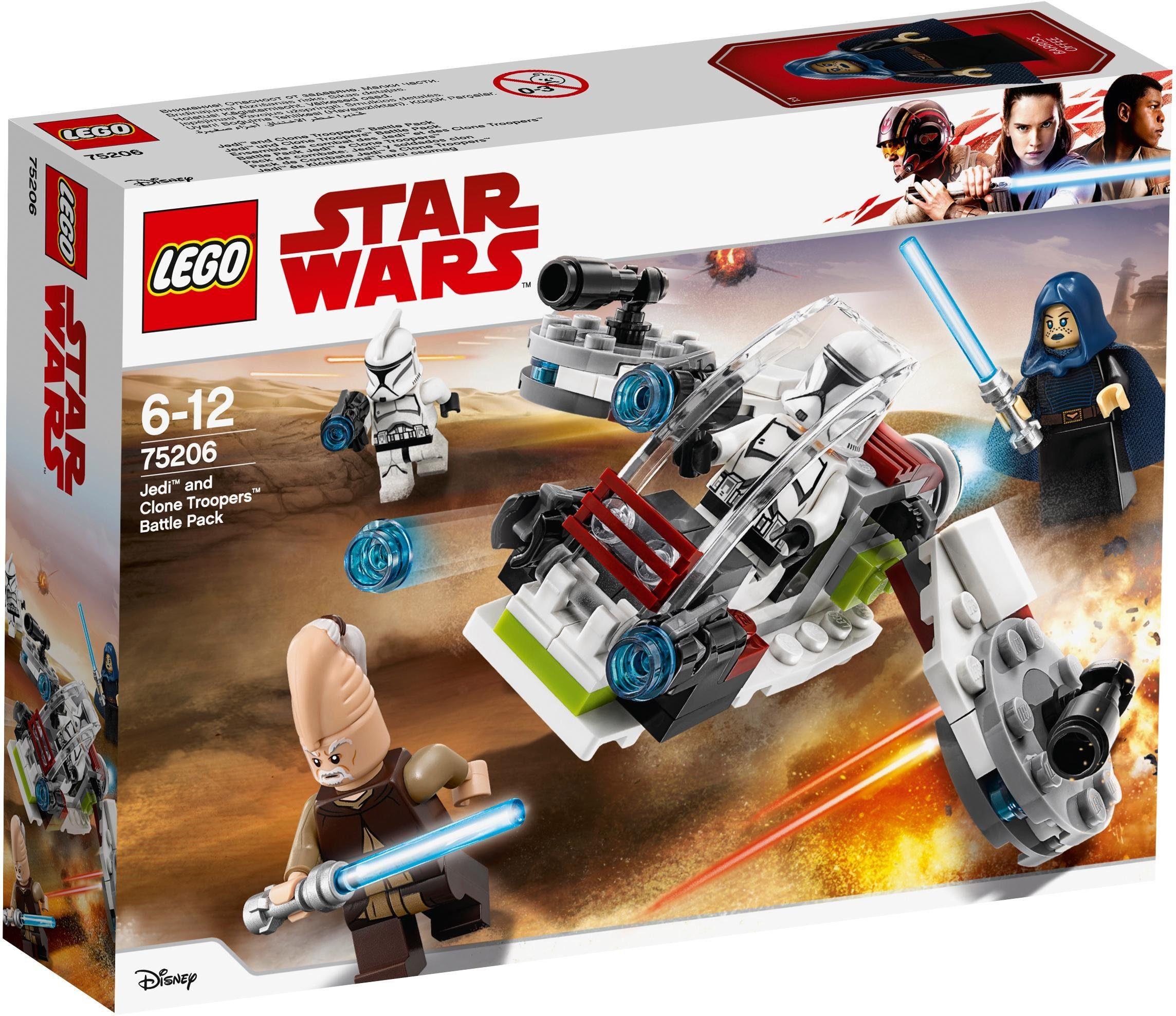 LEGO® Konstruktionsspielsteine »Jedi und Clone Troopers Battle Pack (75206), LEGO® Star Wars«, (102 tlg)