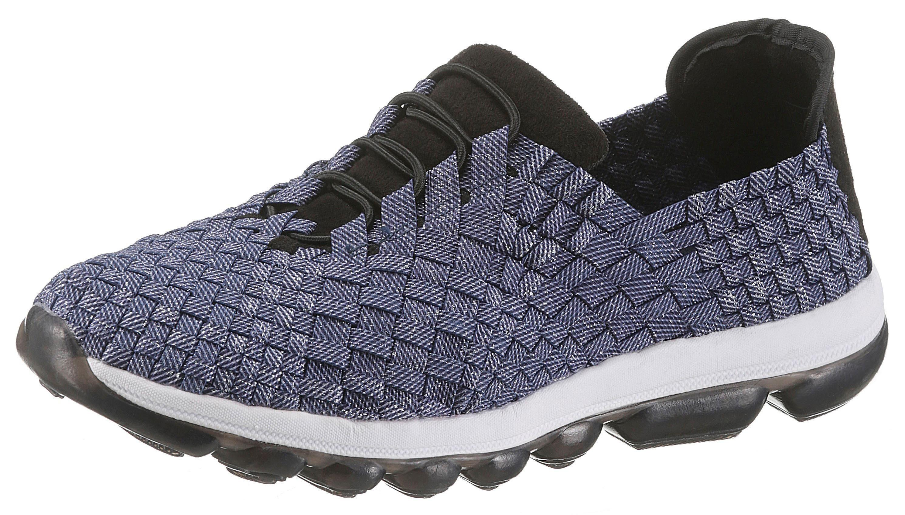BERNIE MEV Slipper, mit bi-elastischen Stretch  jeansblau-schwarz