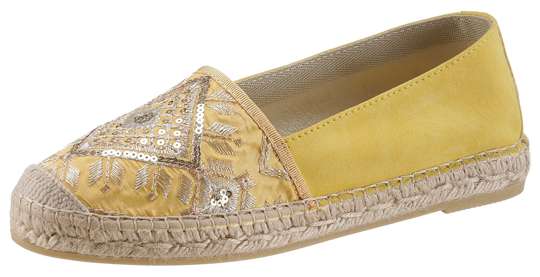 Vidorreta Espadrille, mit sommerlicher Verzierung  gelb