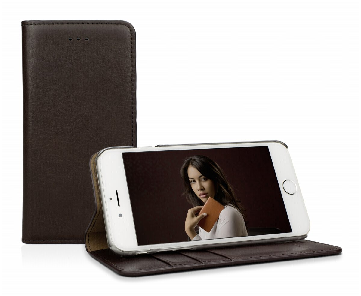 CASEual Tasche »Leather Wallet iPhone 6s Plus, Italian Mocca«