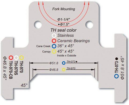 """FSA Werkzeug & Montage »Steuersatz Winkelmesslehre 1 1/4"""" und 1.5""""«"""