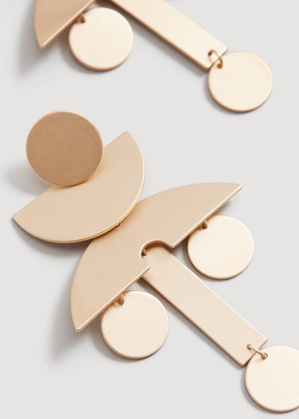 MANGO Ohrringe mit Metallanhängern