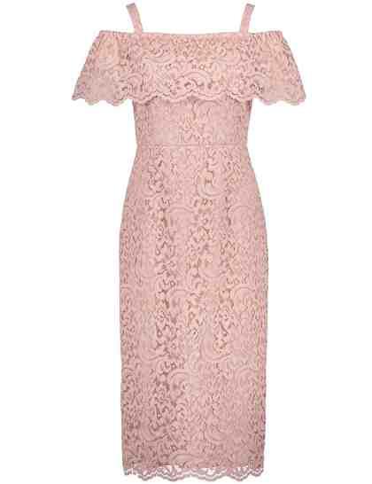 TAIFUN Kleid Langarm kurz »Off-Shoulder-Kleid aus Spitze«